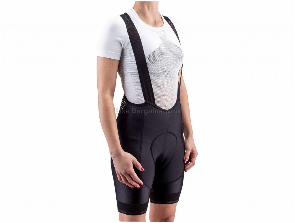 Isadore Ladies I7A3O7E Echelon Light Bib Shorts XL, Black, Breathable, Ladies, Polyamide, Elastane