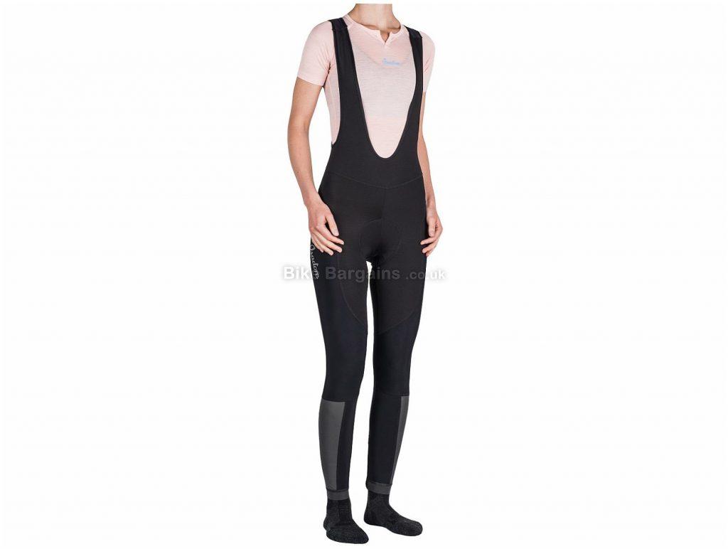 Isadore Ladies Medio Thermoroubaix Bib Tights XS, Black, Ladies, Elastane, Polyamide, Wind Water Repellent