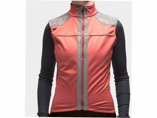 Isadore Ladies Membrane Softshell Gilet L, Pink, Waterproof, Breathable, Sleeveless, Polyester, Merino, Wool, Polyurethane