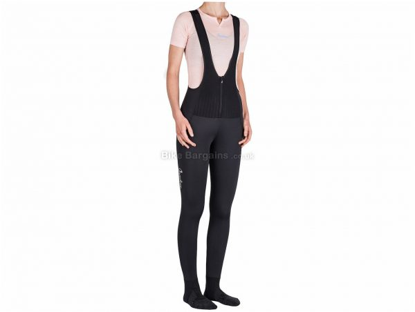 Isadore Ladies ThermoRoubaix unpadded Bib Tights XXS, Black, Ladies, Elastane, Polyamide, Polyester, Thermal