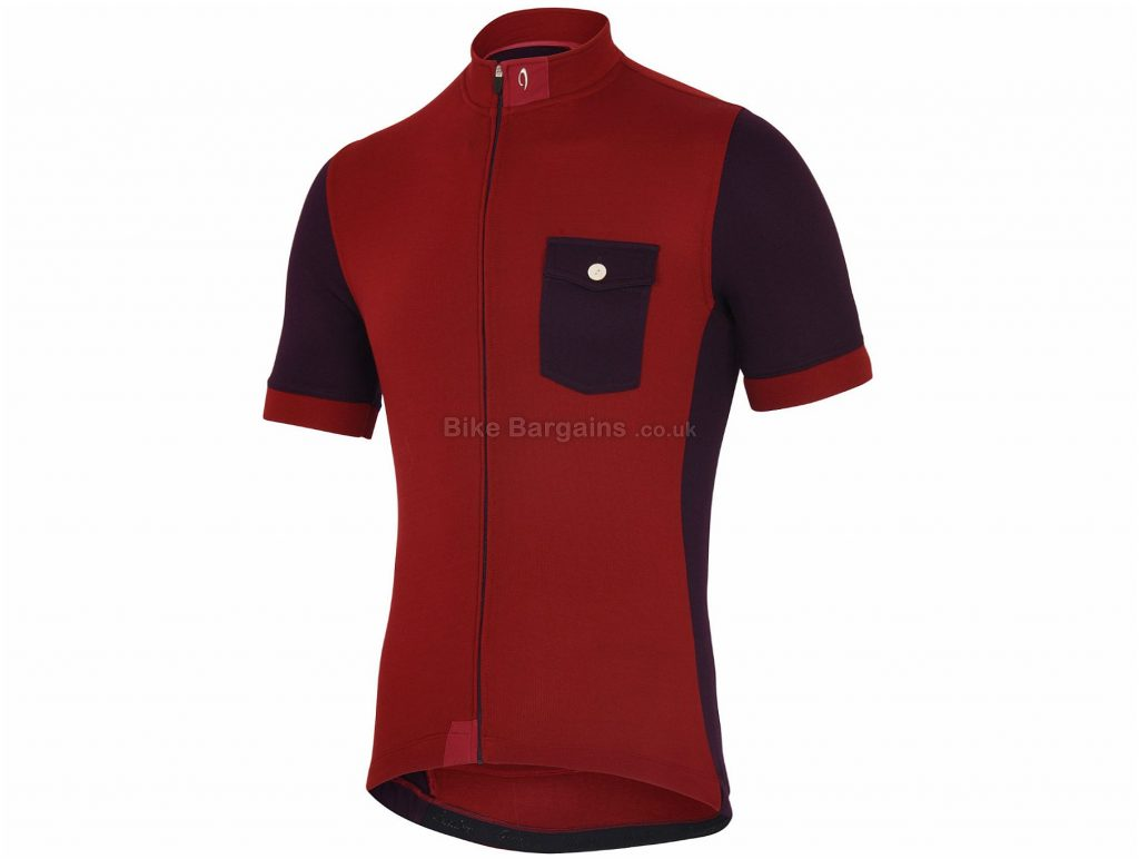 Isadore Messenger Short Sleeve Jersey XS, Red, Breathable, Short Sleeve, Polyester, Merino, Wool, Lycra