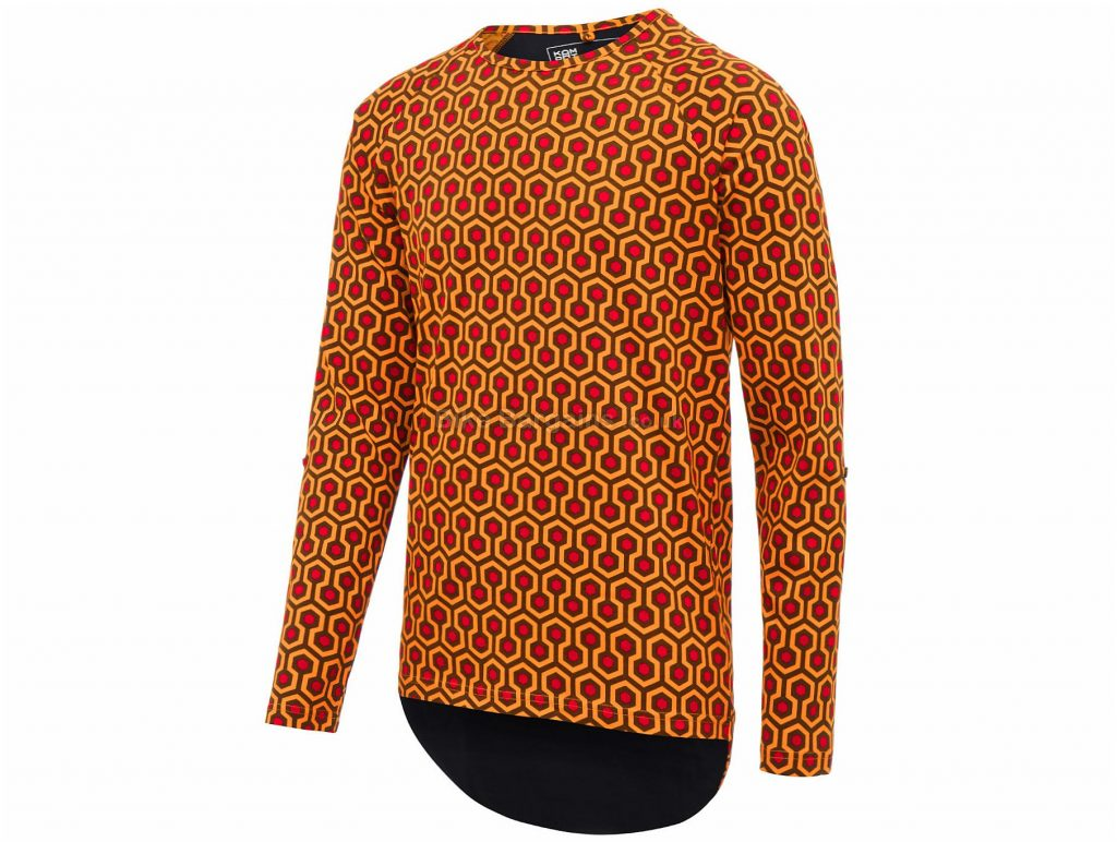 Isadore Shining Long Sleeve T-Shirt S, Orange, Red, Cycling Specific Cut, Long Sleeve, Cotton