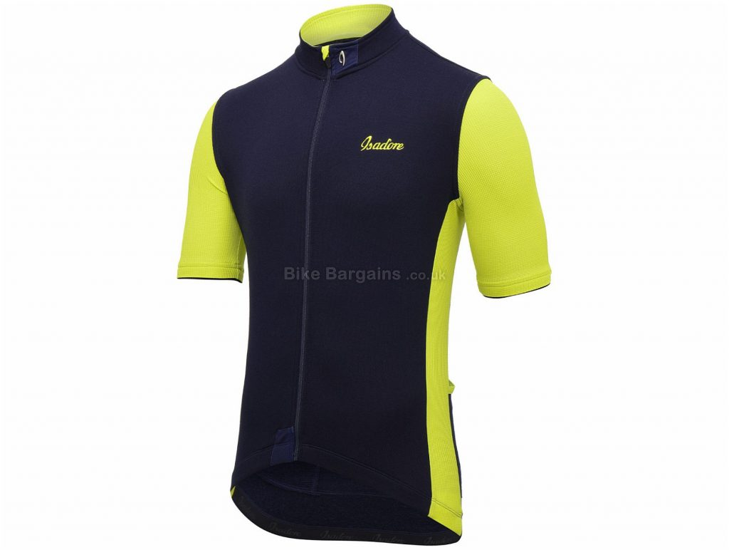 Isadore Signature Short Sleeve Jersey XXL, Orange, Black, Grey, Green, Fast Drying, Breathable, Short Sleeve, Polyester, Merino, Wool, Lycra
