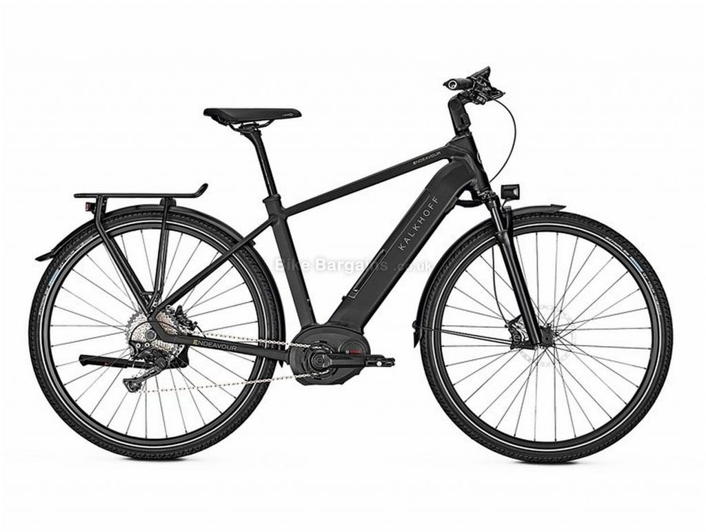 Kalkhoff Endeavour 5.B Excite Diamond Electric City Bike 2018 S, Black, Bosch Performance Line CX, Men's, 700c, Hardtail, Single Chainring, Disc, 11 Speed, Alloy