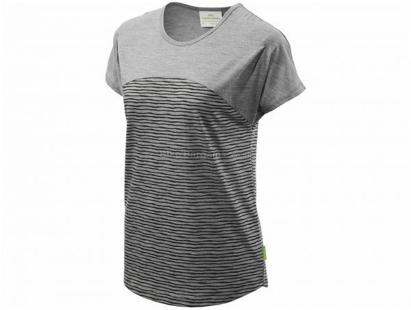 Kathmandu Ladies Navua Short Sleeve T-Shirt 14, Grey, Breathable, Ladies, Short Sleeve, Merino Wool, Polyester