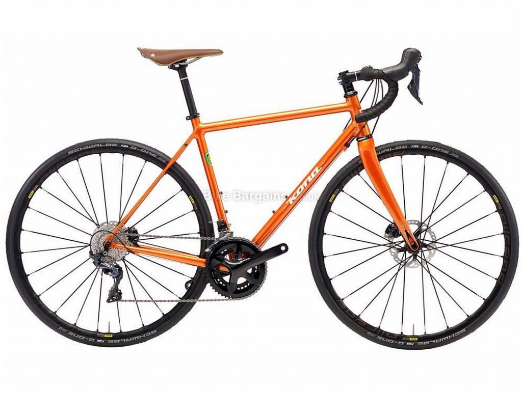 Kona Roadhouse Steel Road Bike 2018 52cm, Orange, Steel, 700c, Disc, 11 Speed, Double Chainring
