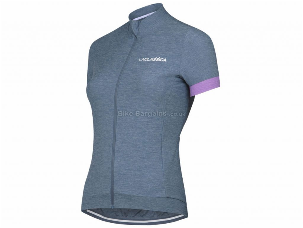 LaClassica Ladies Extra Light Short Sleeve Jersey S, Grey, Pink, 3 Rear Pockets, Ladies, Short Sleeve, Polyester, Polyamide, Elastane