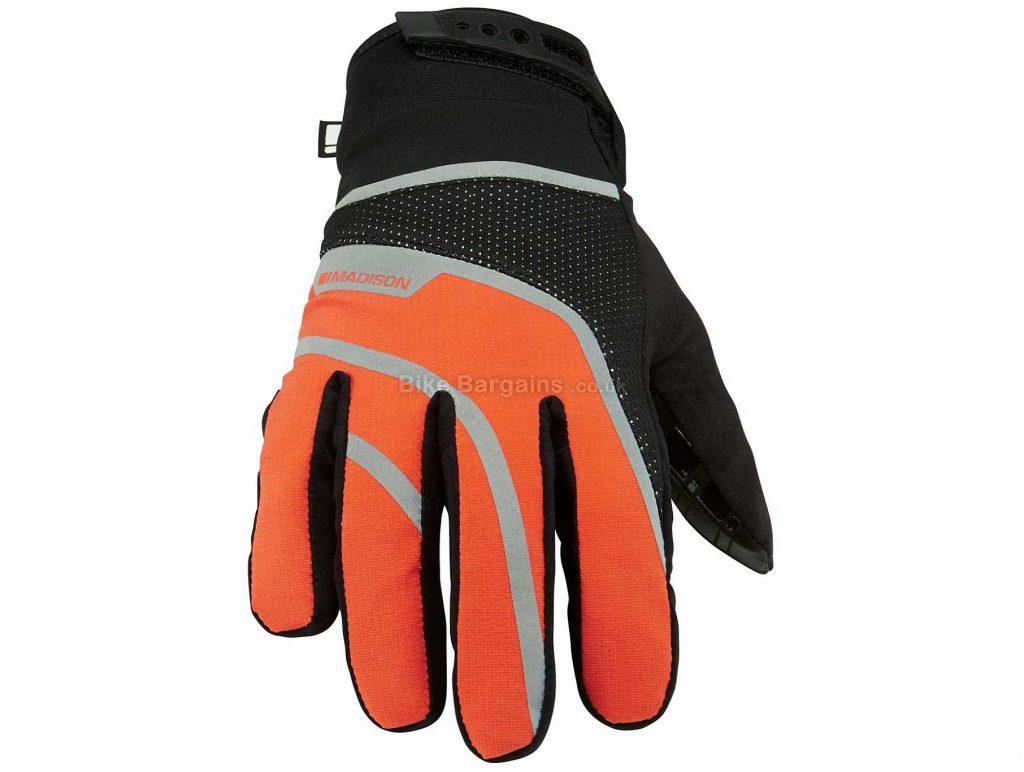 Madison Avalanche Waterproof Gloves S, Orange, Black, Waterproof, Windproof, Men's, Full Finger, Polyester