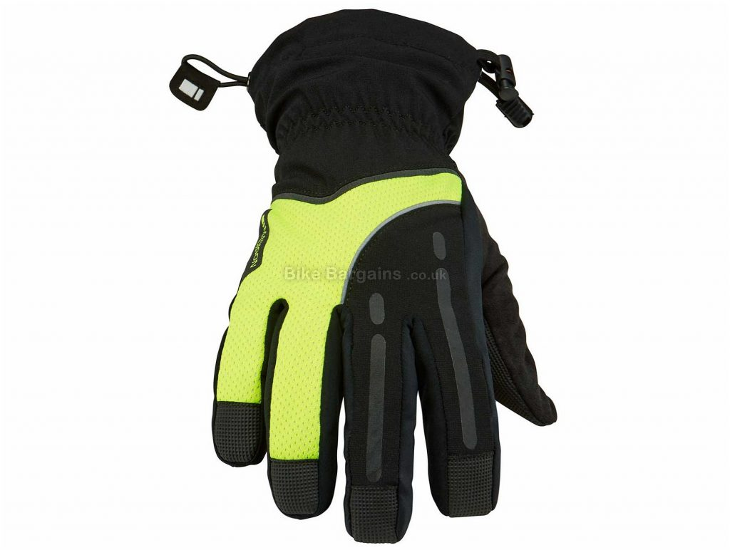 Madison Stellar Waterproof Gloves M, Yellow, Black, Red, Waterproof, Thermal, Men's, Full Finger, Polyester