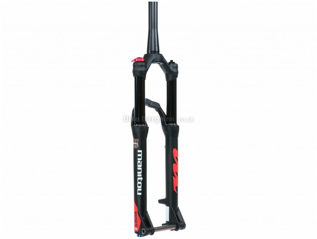 "Manitou Machete Pro 15mm Axle MTB Suspension Forks 29"", 100mm, Black, Tapered, Alloy, 29"", Disc, Suspension"