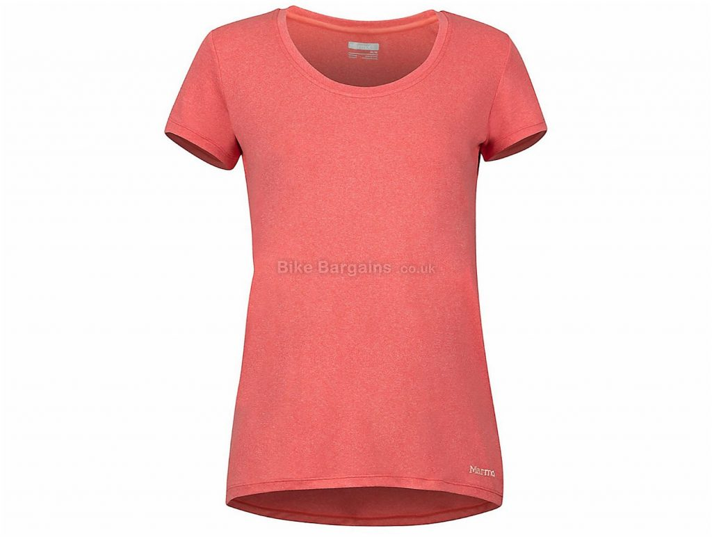 Marmot Ladies All Around Short Sleeve T-Shirt L, Pink, Breathable, Ladies, Short Sleeve, Polyester, Elastane