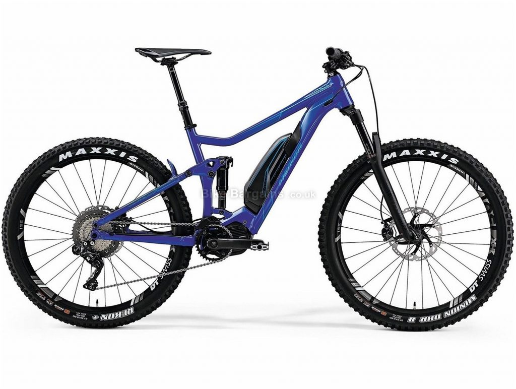 "Merida eOne Twenty 900E 27.5+ Electric Full Suspension Mountain Bike 2019 L, Blue, Alloy, 27.5"", Disc, 11 Speed, Single Chainring"