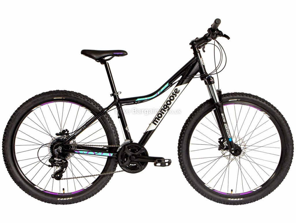 Mongoose Boundary 3 Ladies Alloy Mountain Bike 2020 S,M,L, Black, Alloy Frame, Disc, 24 Speed, Triple Chainring, Hardtail