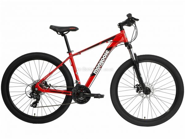 Mongoose Villain 1 Alloy Mountain Bike 2020 S,M,L, Red, Black, Alloy Frame, Disc, 21 Speed, Triple Chainring, Hardtail
