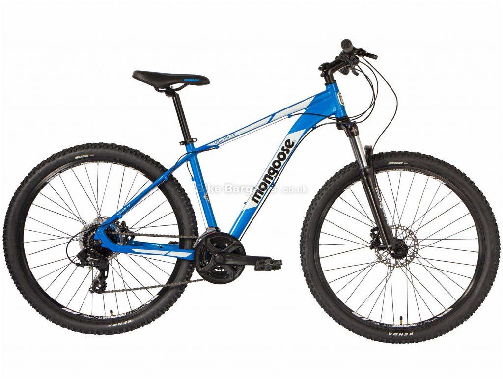 Mongoose Villain 3 Alloy Mountain Bike 2020 S,M,L, Blue, Black, Alloy Frame, Disc, 24 Speed, Triple Chainring, Hardtail