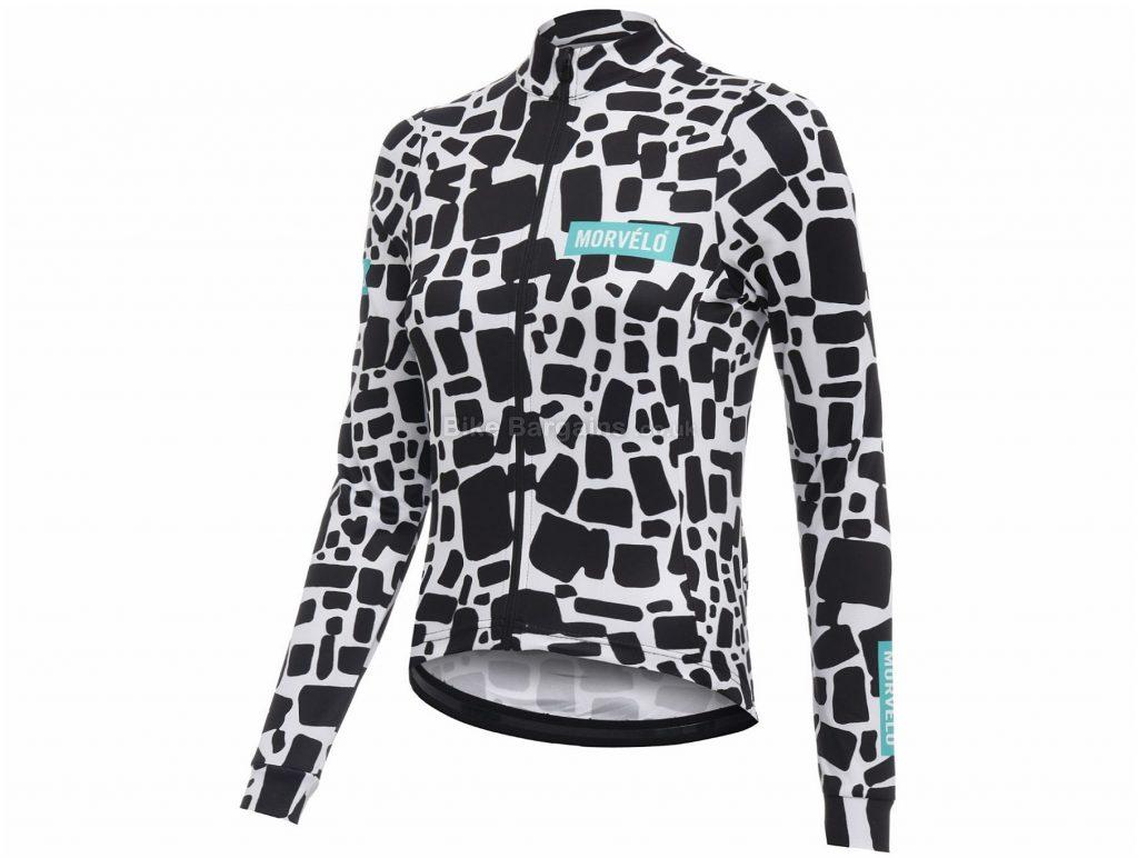 Morvelo Ladies Daub Long Sleeve Jersey L, Black, White, Long Sleeve, Ladies, Polyester