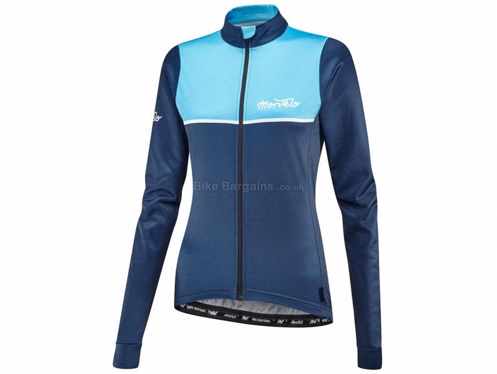 Morvelo Ladies Kuler Thermoactive Long Sleeve Jersey L, Blue, Long Sleeve, Ladies, Polyester