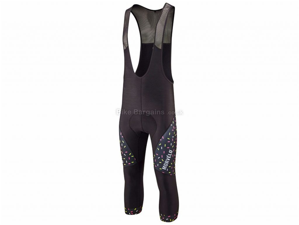 Morvelo Strands Stormshield Bib Knickers XS, Black, Men's, Elastane, Polyamide, Polyester, Breathable,