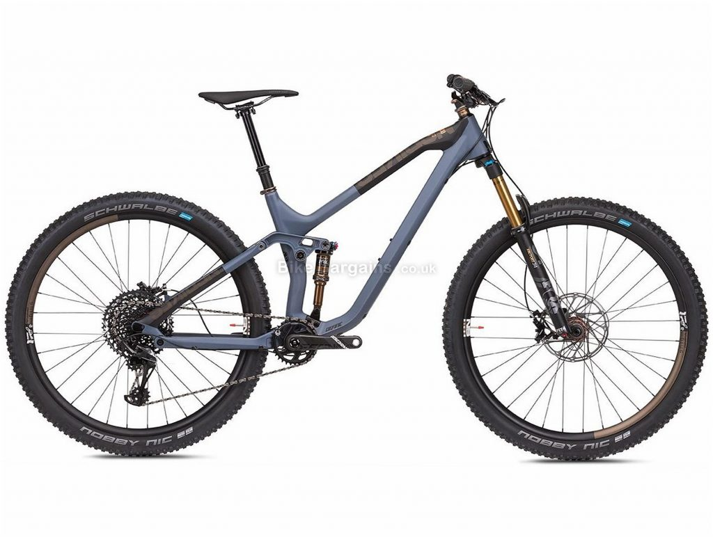 "NS Bikes Define 130 1 29er Carbon Full Suspension Mountain Bike 2019 M, Grey, Carbon, 13.2kg, 29"", Single Chainring, 12 Speed, Full Suspension, Disc"