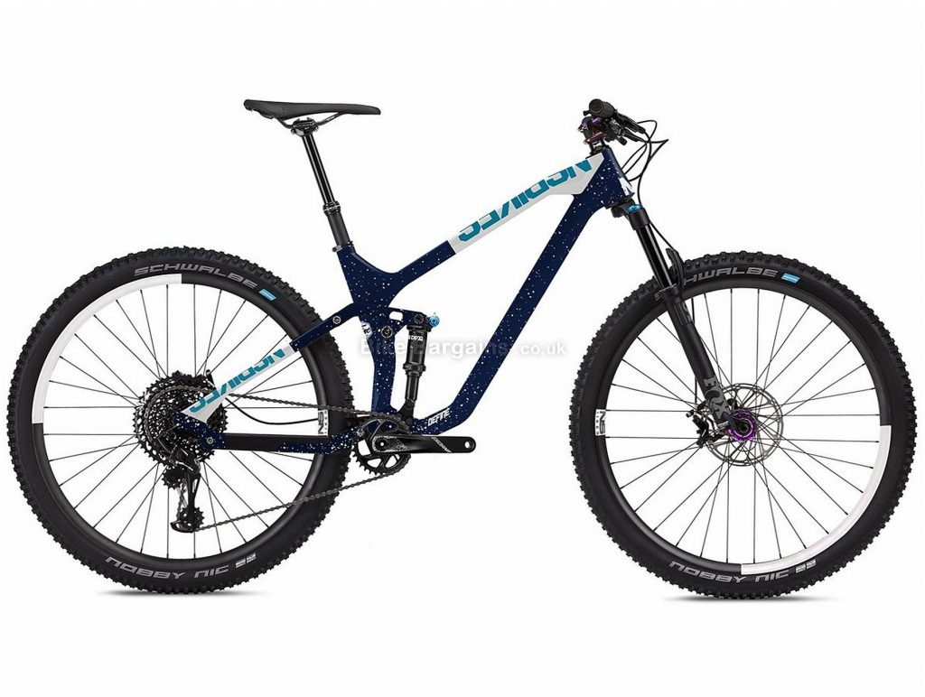 "NS Bikes Define 130 2 29er Carbon Full Suspension Mountain Bike 2019 L, Blue, Carbon, 13.8kg, 29"", Single Chainring, 12 Speed, Full Suspension, Disc"