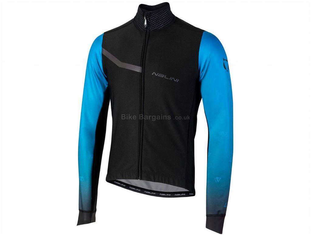 Nalini AIW Pro Gara 2.0 Jacket XXL, Black, Blue, 3 Rear Pockets, Long Sleeve, Polyamide, Elastane, Polyester