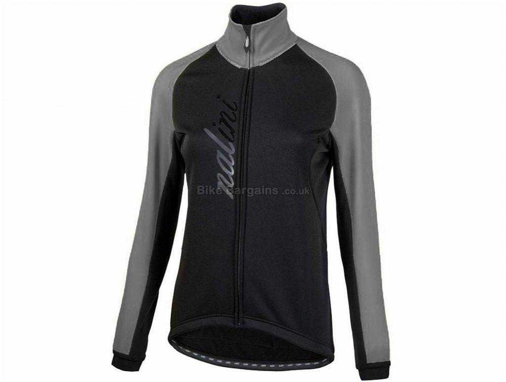 Nalini Ladies AHW Crit Jacket L, Black, Pink, Silver, 3 Rear Pockets, Long Sleeve, Polyester, Elastane, Polyamide