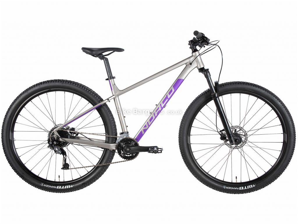 Norco Storm 1 Ladies Alloy Mountain Bike 2020 XXS, Silver, Purple, Black, Alloy Frame, Disc, 18 Speed, Double Chainring, Hardtail