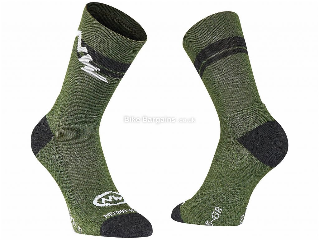 Northwave Extreme Winter High Socks S, Black, Yellow, Thermal, Breathable, Polyamide, Viscose, Acrylic