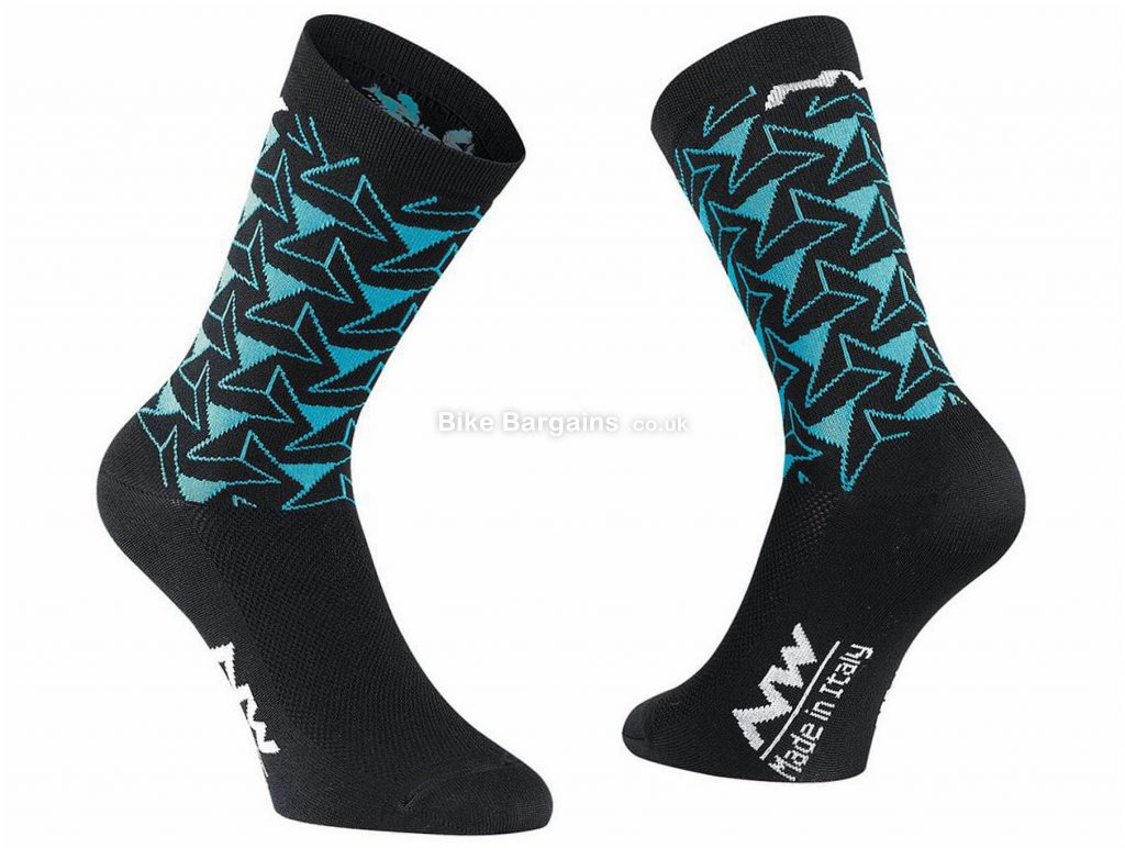 Northwave Ladies Access Dedalo Socks M, Black, Blue, Fast Drying, Polypropylene, Polyamide, Elastane