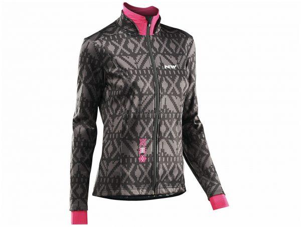 Northwave Ladies Allure Jacket XS,S, Black, Grey, Pink, Waterproof, Ladies, Long Sleeve, Polyester, Polyurethane