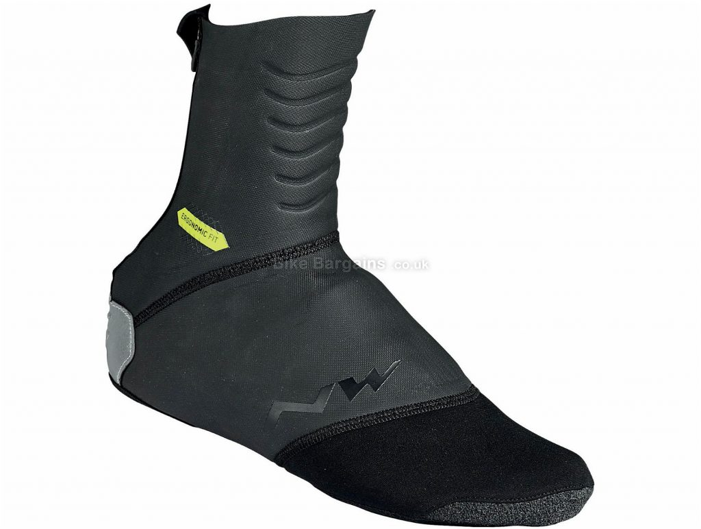 Northwave Storm Overshoes S, Black, Water And Wind-Resistant, Polyester, Neoprene, Rubber