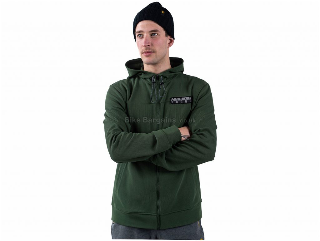 Nukeproof Blackline Full Zip Hoodie L, Grey, Thermal, Breathable, Men's, Long Sleeve, Polyester