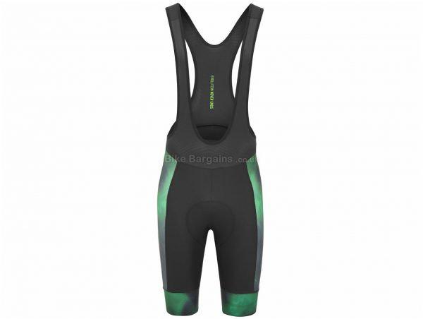 Oakley Exclusive Laser Green Endurance Bib Shorts XS, Black, Green, Breathable, Men's, Polyester, Elastane