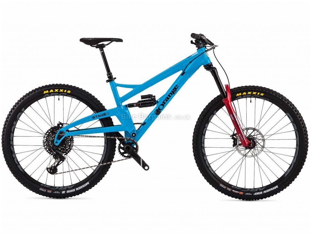 "Orange Bikes Stage 6 RS Full Suspension Mountain Bike 2019 M, Blue, Alloy, 29"", Disc, 12 Speed, Single Chainring"