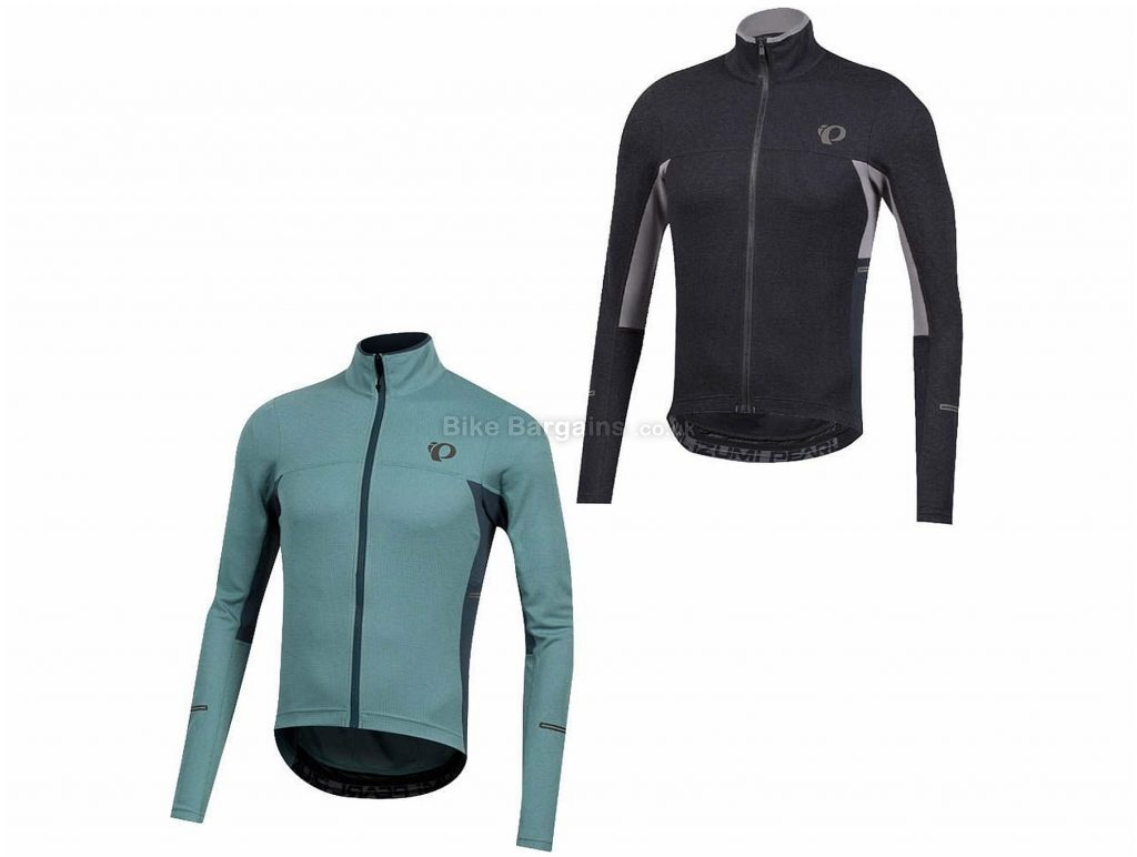 Pearl Izumi Pro Escape Thermal Long Sleeve Jersey 2019 S, Black, Grey, Turquoise, Form Fit, Spray-Resistant, Men's, Long Sleeve, Polyester, Acrylic