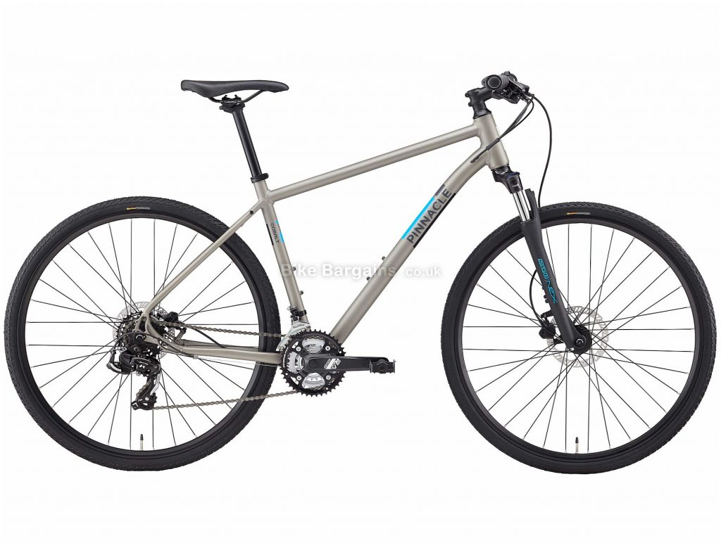 Pinnacle Cobalt 1 Alloy City Bike 2020 S,M,L,XL, Grey, Alloy Frame, Disc, 21 Speed, Triple Chainring, Hardtail