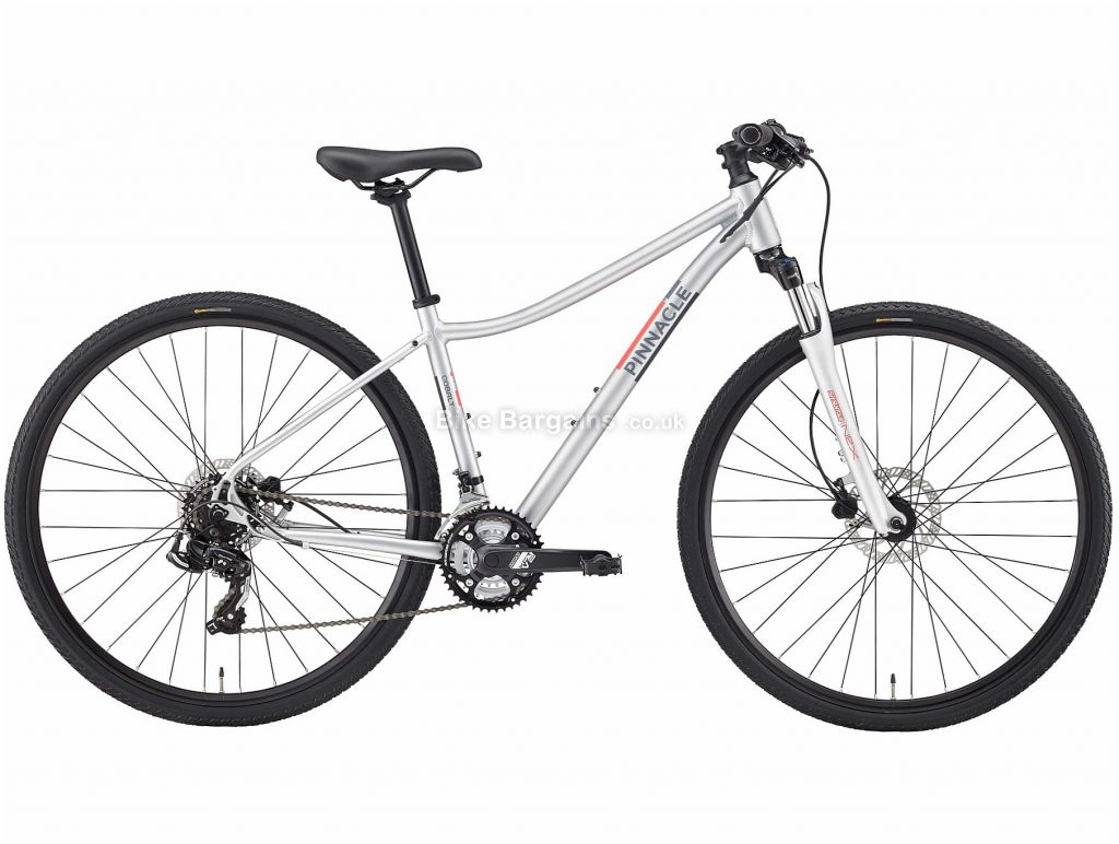 Pinnacle Cobalt 1 Ladies Alloy City Bike 2020 S,M,L, Silver, Alloy Frame, Disc, 21 Speed, Triple Chainring, Hardtail