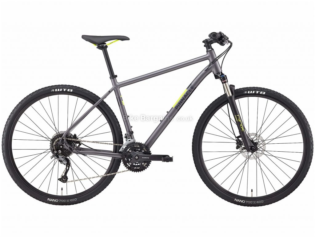 Pinnacle Cobalt 3 Alloy City Bike 2020 S,M,L,XL, Grey, Black, Alloy Frame, Disc, 27 Speed, Triple Chainring, Hardtail