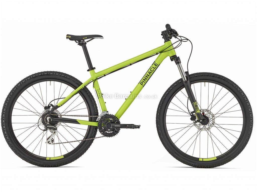 Pinnacle Kapur 1 Alloy Mountain Bike 2020 XS,M,L,XL, Green, Black, Alloy Frame, Disc, 24 Speed, Triple Chainring, Hardtail, 15.2kg