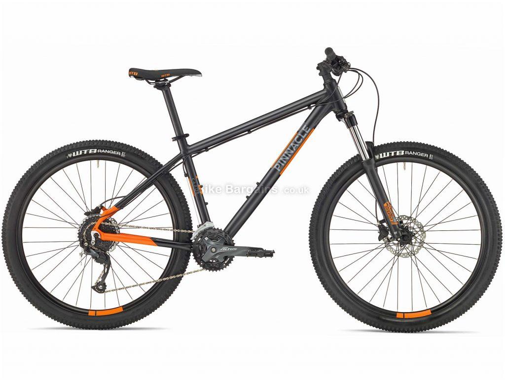 Pinnacle Kapur 2 Alloy Mountain Bike 2020 XS,S,M,L,XL, Black, Orange, Alloy Frame, Disc, 27 Speed, Triple Chainring, Hardtail, 13.44kg