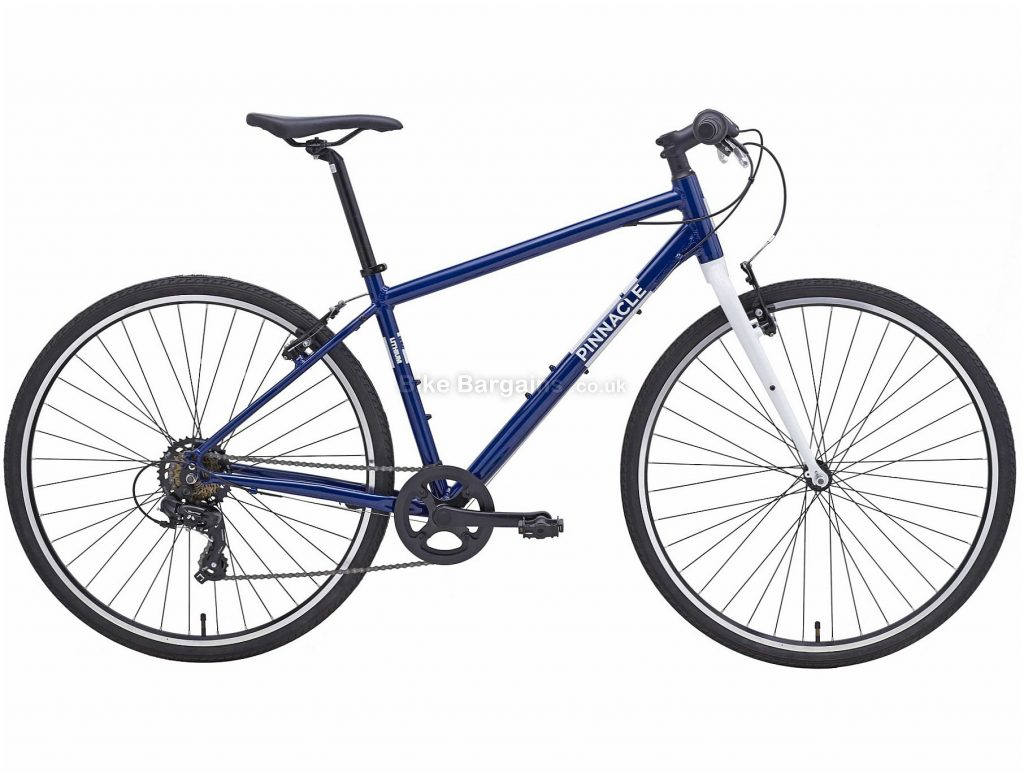 Pinnacle Lithium 1 Alloy City Bike 2020 S,M,XL, Blue, White, Alloy Frame, Caliper Brakes, 14 Speed, Double Chainring, Hardtail, 12.1kg