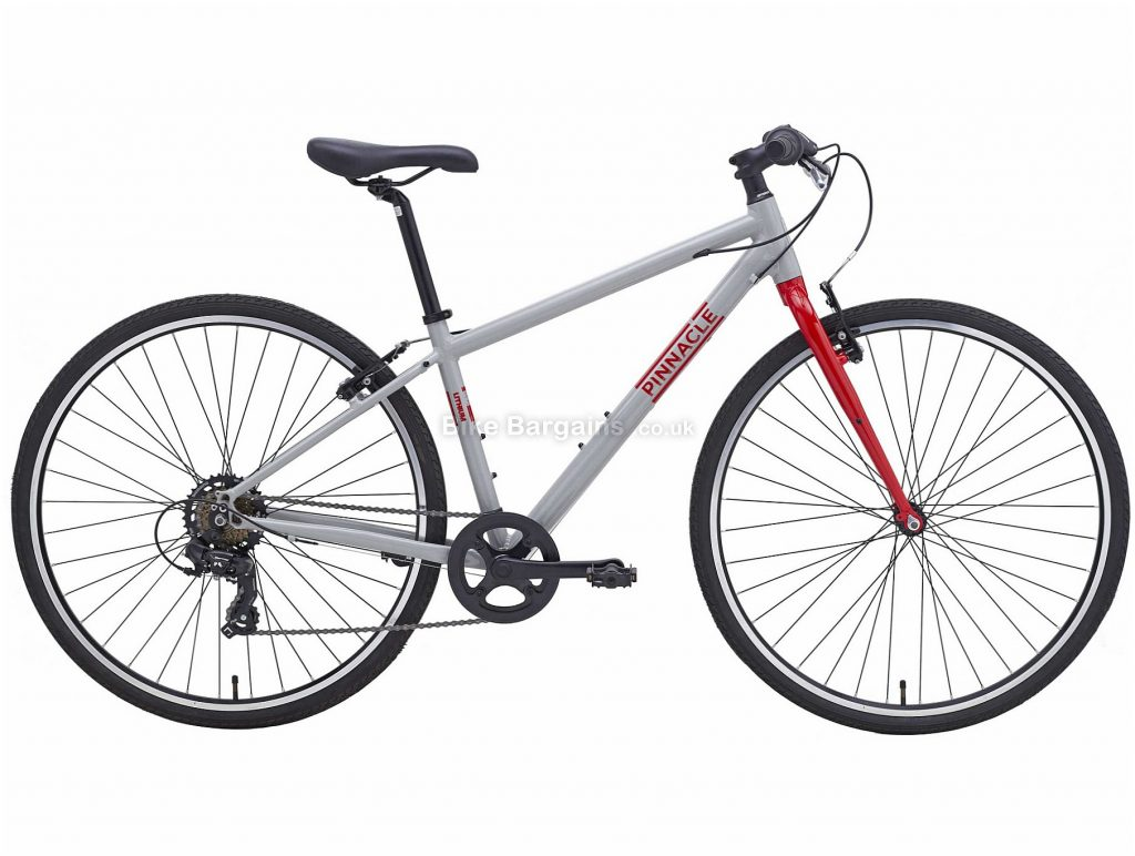 Pinnacle Lithium 1 Ladies Alloy City Bike 2020 S,M,L, Grey, Red, Alloy Frame, Caliper Brakes, 7 Speed, Single Chainring, Hardtail, 11.48kg