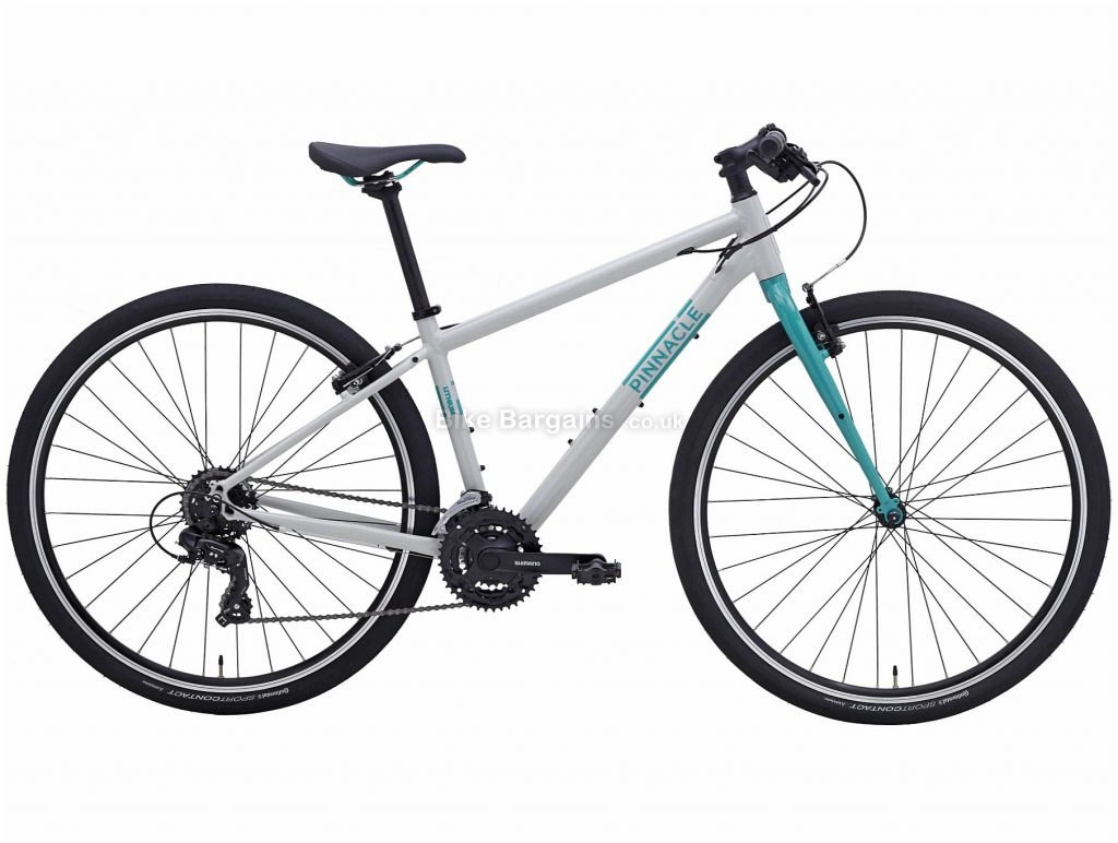 Pinnacle Lithium 2 Ladies Alloy City Bike 2020 S,M,L, White, Turquoise, Alloy Frame, Caliper Brakes, 21 Speed, Triple Chainring, Hardtail