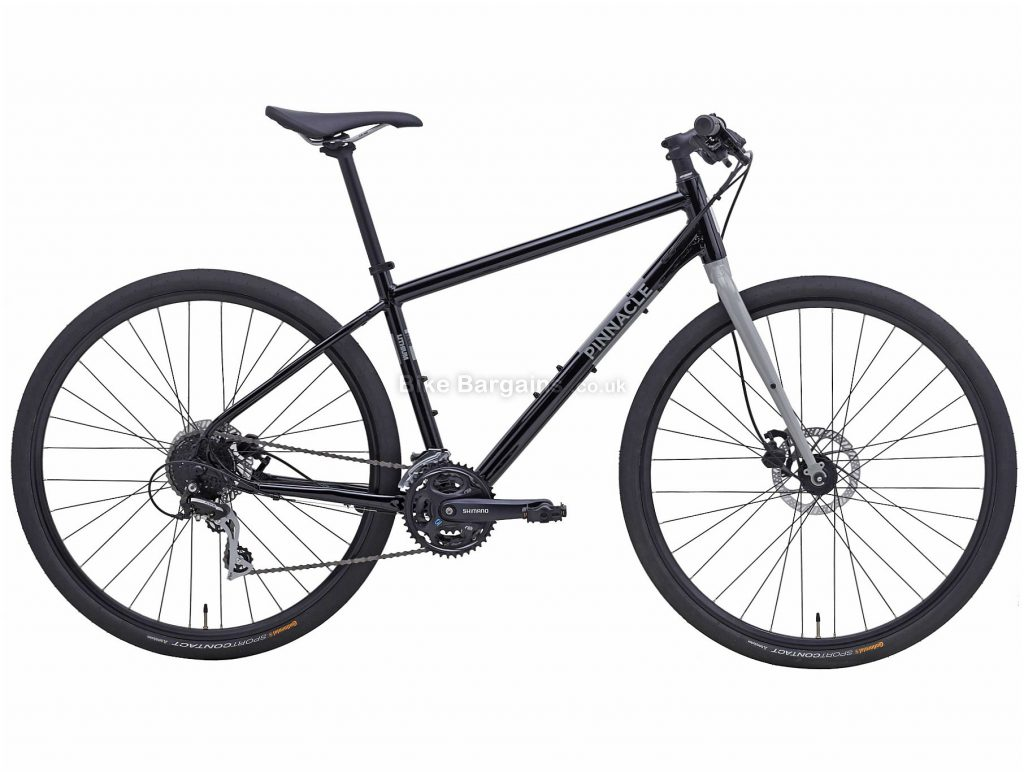 Pinnacle Lithium 3 Alloy City Bike 2020 S,M,L,XL, Black, Grey, Alloy Frame, Disc, 24 Speed, Triple Chainring, Hardtail, 12.8kg