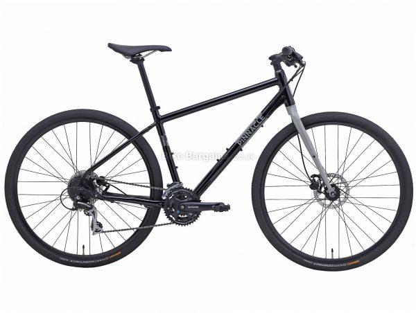 Pinnacle Lithium 3 Alloy City Bike 2020 S,M,L,XL, Black, Grey, Alloy Frame, Disc, 24 Speed, Triple Chainring, Hardtail, 12.8kg