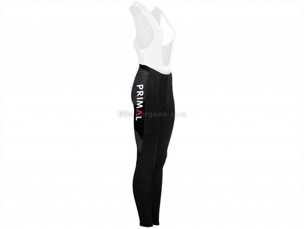 Primal Ladies Asonic Bib Tights XS, Black, White, Pink, Thermal, Ladies, Polyester, Elastane