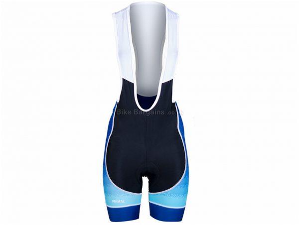 Primal Ladies Helix 2.0 Bib Shorts XS, Black, Blue, White, Breathable, Ladies, Polyester, Elastane