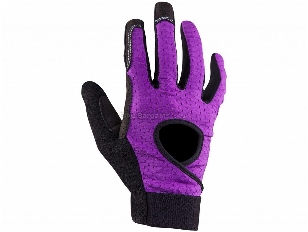 Race Face Ladies Khyber Gloves 2016 XL, Red, Black, Full Finger, Ladies, Polyamide, Polyurethane, Cotton, Elastane, Neoprene