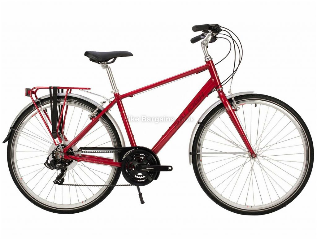 Raleigh Pioneer Tour Alloy City Bike 2020 XL, Red, Alloy  Frame, 21 Speed, Caliper Brakes, 700c Wheels, Hardtail, 14.5kg