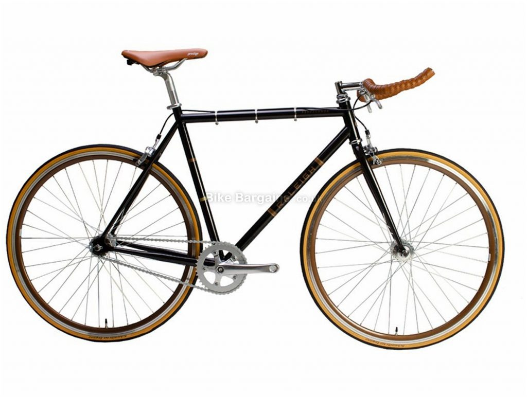 Raleigh Propaganda Single Speed Steel City Bike 2020 58cm, Black, Brown, Steel Frame, 1 Speed, Caliper Brakes, 700c Wheels, Hardtail
